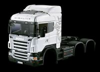 1/14 3-axles RC Scania Body Trailer Tractor Truck Car Shell Model Aluminium 802A