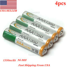 BTY 4pcs 1350mAh 1.2V AAA Ni-MH Household Rechargeables Battery R03 LR3~USA Ship