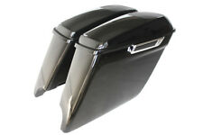 "4.5"" 2014 dual saddlebags speaker lids one touch open latch fit 1993-2013 Harley"