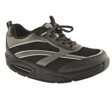RYN Men's X-Run Athletic Walking Shoes Black/Charcoal, Sizes: 6.5 & 7.5 M.