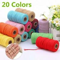 Macrame Rope Cotton Twisted Cord Hand Craft String Decor Home DIY 2mm*91m T7U9