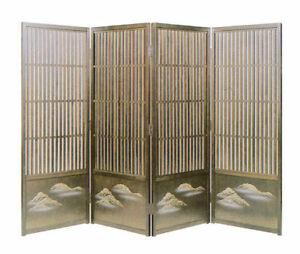 Sudare Byobu Partition Blindfold Lattice Screen  120cm hight 45cm widthX4