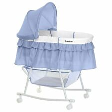 Dream On Me Lacy Portable 2 in 1 Bassinet and Cradle in Serenity