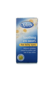Optrex Soothing Eye Drops for Itchy Eyes - 10 ml - Free Postage