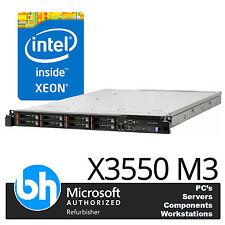 Twin Quad Core E5520 2.13GHz 24GB DDR3 RAM IBM 1U X3550 M3 Rack Server