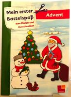 Mein erster Bastelspaß zum Malen und Ausschneiden + Weihnachten für Kinder /56