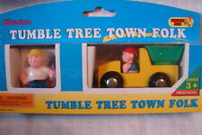 Thomas Compatible Wooden Tumble Tree Town Folk Dump Truck & Construction Worker