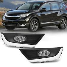 For 2017-2018 Honda Crv Clear Bumper Lamps Driving Fog Lights+Switch+Bezels