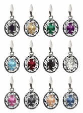 Sterling Silver Pendants made with 4120 8mm Oval Swarovski® Crystals