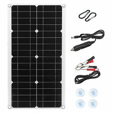 100W Watt Solar Panel Kit 12V Off Grid Battery Flexible Charge For RV Camping