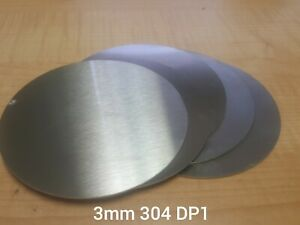 Stainless Steel 304 Brushed DP1 Satin. Laser cut disc/blank. 3mm thick circle