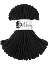 Bobbiny koord color: BLACK / 100% Cotton 5mm Bobbiny Rope 100m  Macrame Cord