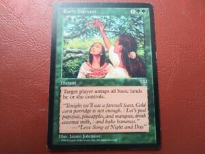 Early Harvest Mirage NM Green Rare MAGIC THE GATHERING MTG CARD