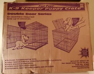 Four Paws K-9 Keeper Double Door Dog Crate Deluxe Series  small dogs 25 lbs NIB