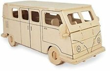 Camper Van Woodcraft Construction Kit - Car 3D Wooden Model Puzzle KIDS/ADULTS