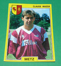 N°125 CLAUDE MASSA FC METZ FCM LORRAINE PANINI FOOTBALL FOOT 92 1991-1992