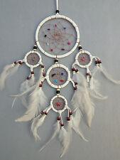12 cm x 35 cm Dreamcatcher Traumfänger Leder Indianer Träume Geschenk Weiß Creme