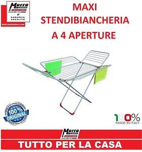"""STENDIBIANCHERIA STENDINO ALLUMINIO A CAVALLETTO METRI 30 URANO """"MADE IN ITALY"""""""