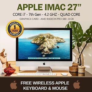 """FAST Apple iMac A2115 27"""" Intel Quad Core i7-7th Gen 16GB RAM 512GB SSD  A GRADE"""