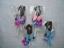 12 Butterfly 1st Birthday Pink Purple Party Favor Gourment chocolate Lollipops