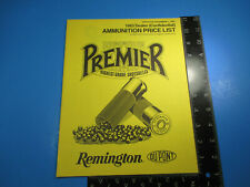 Vintage 1983 Remington Premier Highest Grad Shotshells Ammo Price List M6602