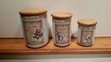 Royal Worcester Porcelain Country Garden Canister set
