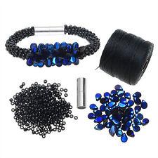 Refill - Deluxe Beaded Kumihimo Bracelet Blue/Black -  Beadaholique Jewelry Kit