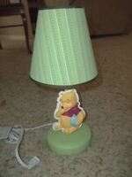 WINNIE THE POOH Nursery Lamp Green Excellent