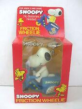 Vintage 1965 Snoopy Peanuts Friction Wheelie Blue Toy Stunt Cycle - MISB