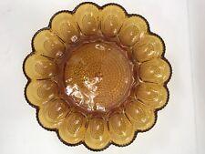 """""""orange amber"""" vintage egg plate hobnailed color Mint-C"""