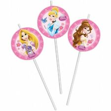 Disney Princess and Animals Party Straws Pack of 6
