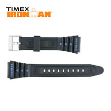 Timex Ironman Rubber Watch Strap 19mm Blue Silk Print