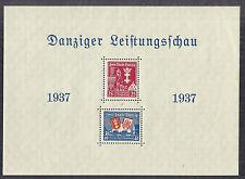 1937 Danzig Poland SC B21a Michel Block 3 Semi-Postal SS Souvenir Sheet MNH**
