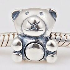 Teddy Bear 925 Charm Bead 925 Sterling Silver