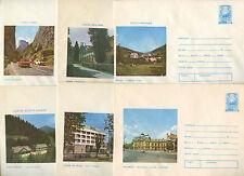 Romania 1976, 6 Unused Stationery Pre-Paid Envelopes Covers #C21402