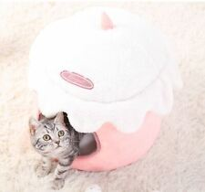 Ice Cream Pet Dog Cat Sofa Bed Tent House Kennel Fold Tent Kitty Puppy Indoor SM