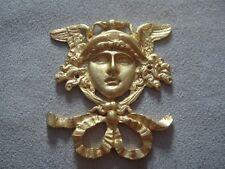FURNITURE HARDWARE GREEK GOD FACE GOLD HARDWARE CENTERPIECE ORMOLU DECOR DESIGN