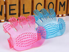 2X Pet Wash Brush Glove Comb Grooming Bath Soft Tool Dogs Cats Cleaning Supplies