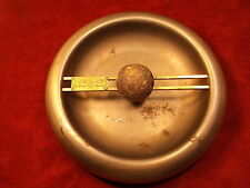 "AWESOME, VTG ANTIQUE ART DECO ASHTRAY BY ""F. U. HUGUNIN, RAILROAD TIME SERVICE"""