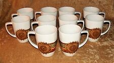 CORELLE Coordinates PORCELAIN 10 Oz. COFFEE MUGS ~ Set of 10