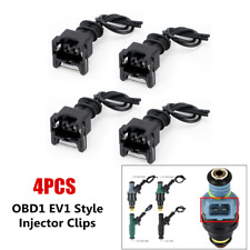4PCS Car Adapter EV1 Fuel Injector Clips Extension Cable Connector Wiring Plugs