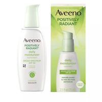Aveeno Positively Radiant Daily Moisturizer With Soy - 2.5 fl oz EXP: 2/22 & Up