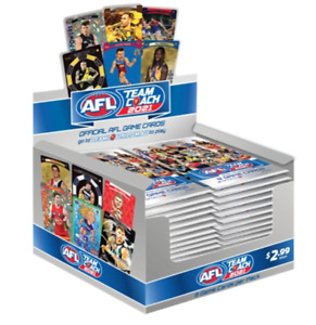 2021 afl teamcoach 5 single packets of trading cards