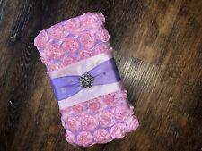 Baby Girl Floral Gem Diaper Wipe Holder / Case