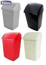 Whitefurze Plastic 30L Swing Bin Red Waste Management Kitchen Home New