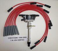 CHEVY/GMC TRUCK VORTEC 1996-2000 7.4L 454 Distributor & RED Spark Plug Wires USA