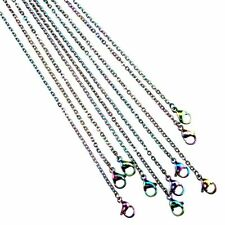"""C2181 2mm 20"""" Rainbow Color Necklace Stainless Steel Cable Chain Necklace 20inch"""