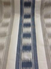 GP and J Baker Ryecote stripe by the metre In Royal Blue And Silver