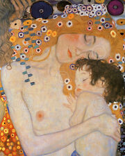 Mother and Child (The Three Ages of Woman) Gustav Klimt Art Print Poster 30x24