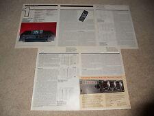 Onkyo DT-2001 DAT Review, 6 pg, 1987, Rare Info! Full Test, Specs